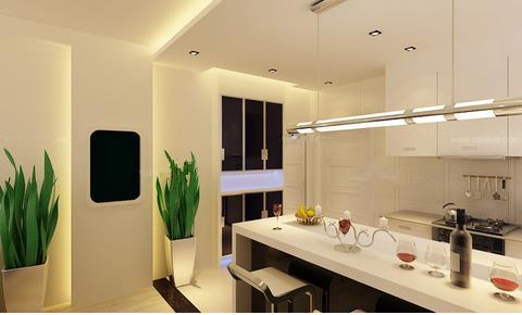 开放式厨房装修效果图的理念