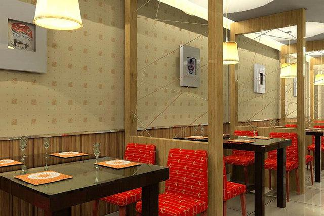 几种好看的小型饭店装修效果图