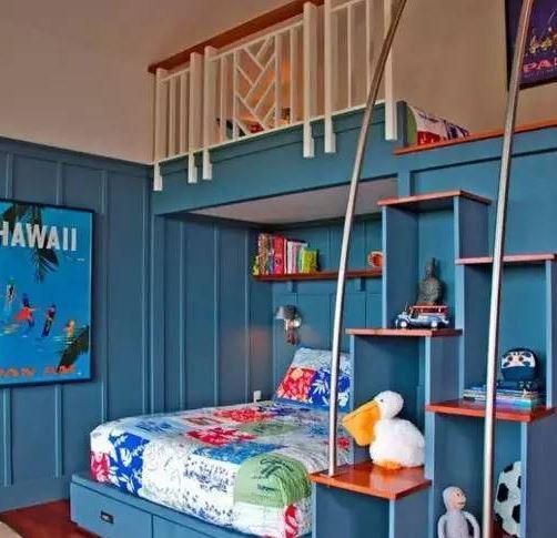 儿童房上下铺图片 超美上下铺设计迎二胎
