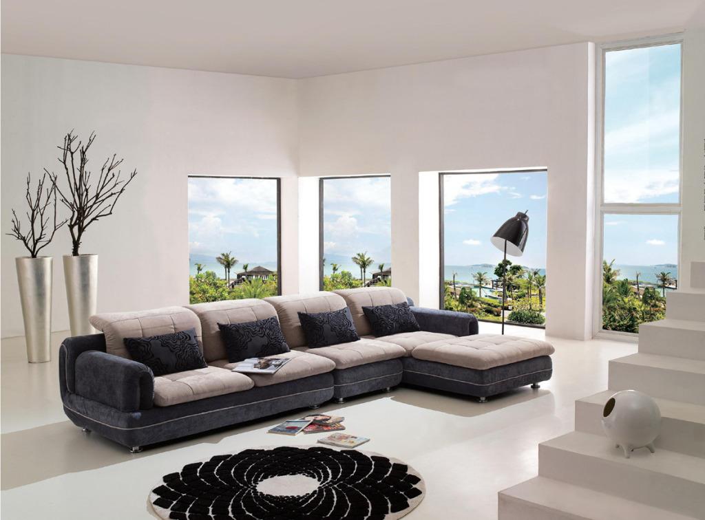 不同材质的美式沙发图片