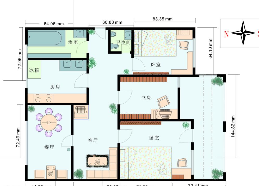 其他 室内装修平面图大揭秘  导读:许多家主 装修房子的时候,请了设计