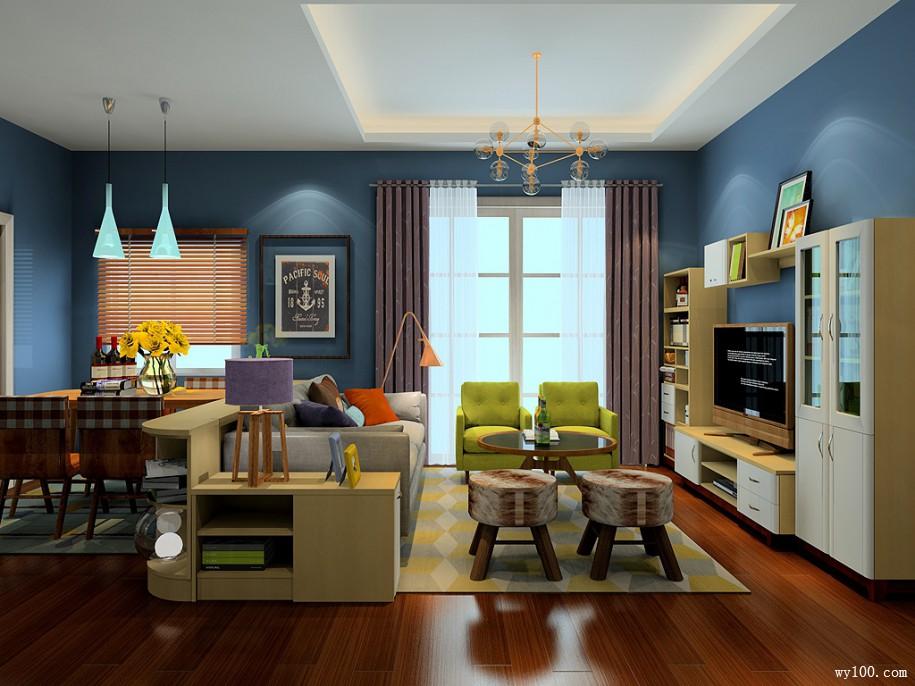 客厅装修木地板