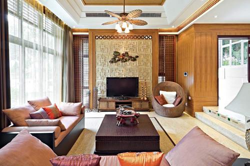 东南亚客厅装修风味--维意定制网上商城