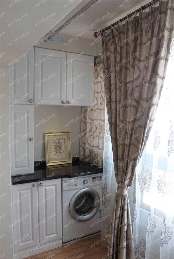 阳台整体洗衣柜怎么设计?