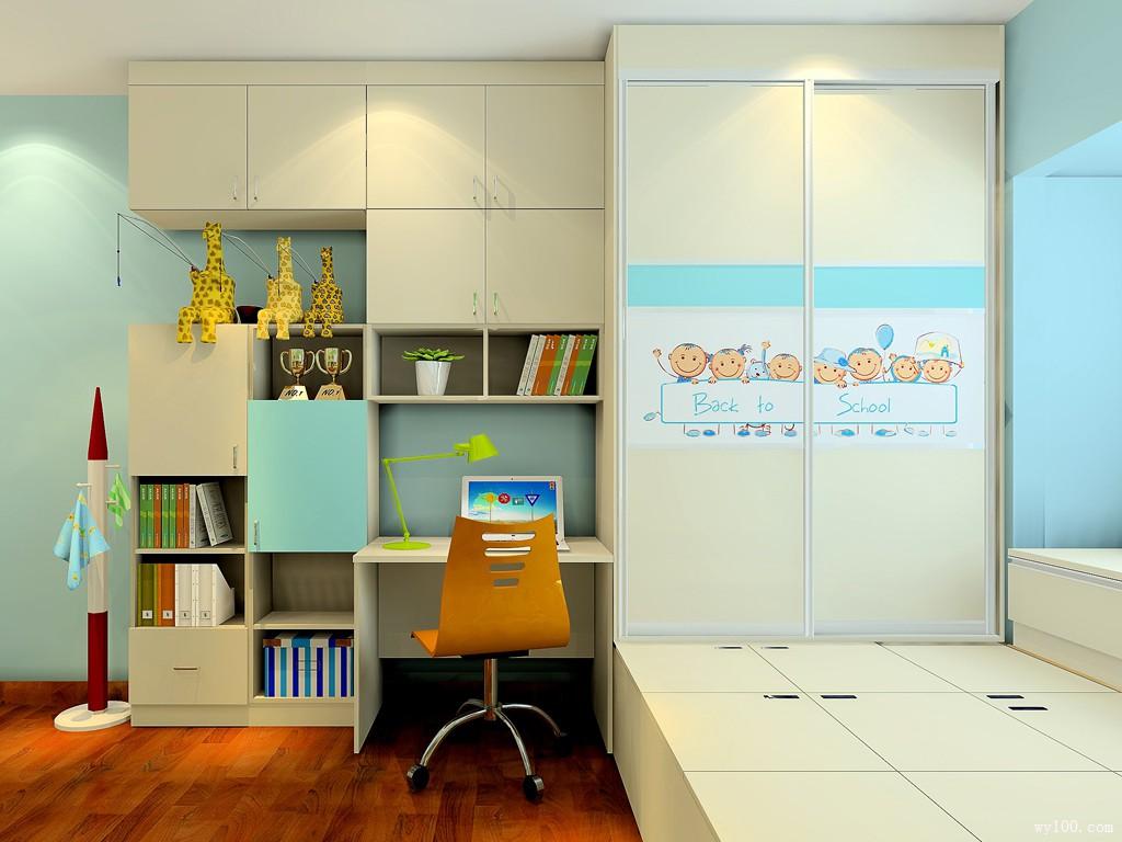 彩色儿童房效果图 15㎡宅家陪孩子最靠谱_维意定制家具商城