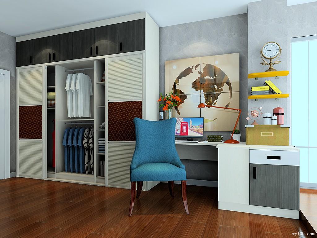 吧台柜卧室效果图 10㎡配置了火炉图片
