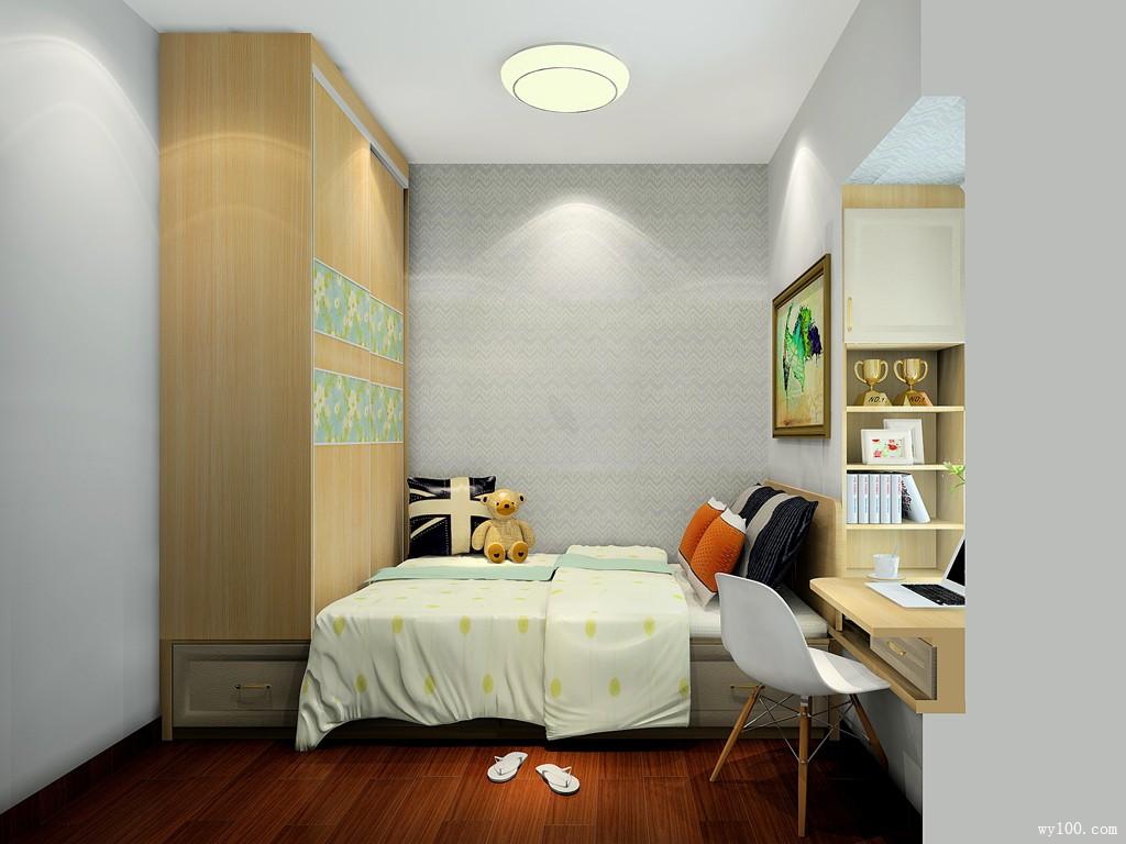 小卧室装修效果图 6㎡衣柜与榻榻米结合