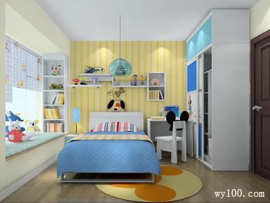 小户型儿童房效果图 8�O即使是小小空间也不放过 title=