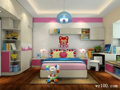 粉色系儿童房效果图 13�O营造一个温馨的女孩房 title=
