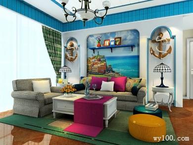 地中海风格客餐厅效果图 24�O设计风格是费城故事 title=