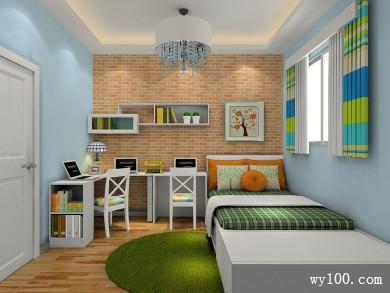 白色清爽卧室效果图 8平打造了一个温馨的卧室 title=