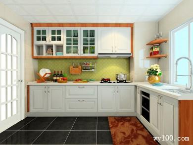 简约厨房设计效果图 7平欧式顶线、灯线、罗马柱 title=