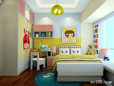 暖色调儿童房效果图 10�O为儿童打造健康的空间 title=