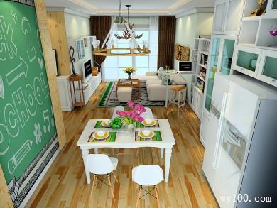 客餐厅装修效果图 45�O增强了空间的展示性 title=