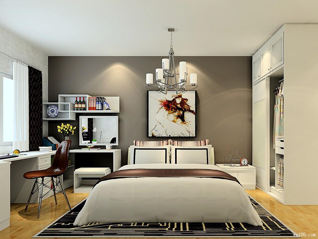 卧房 卧室装修效果图 20㎡整体色调偏温馨自然图片