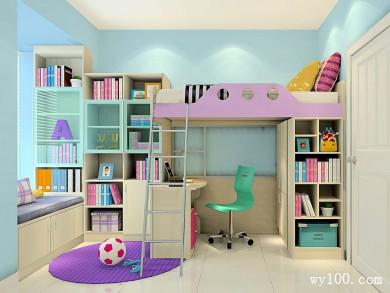 儿童房设计图 6�O上下床使空间得到大利用 title=