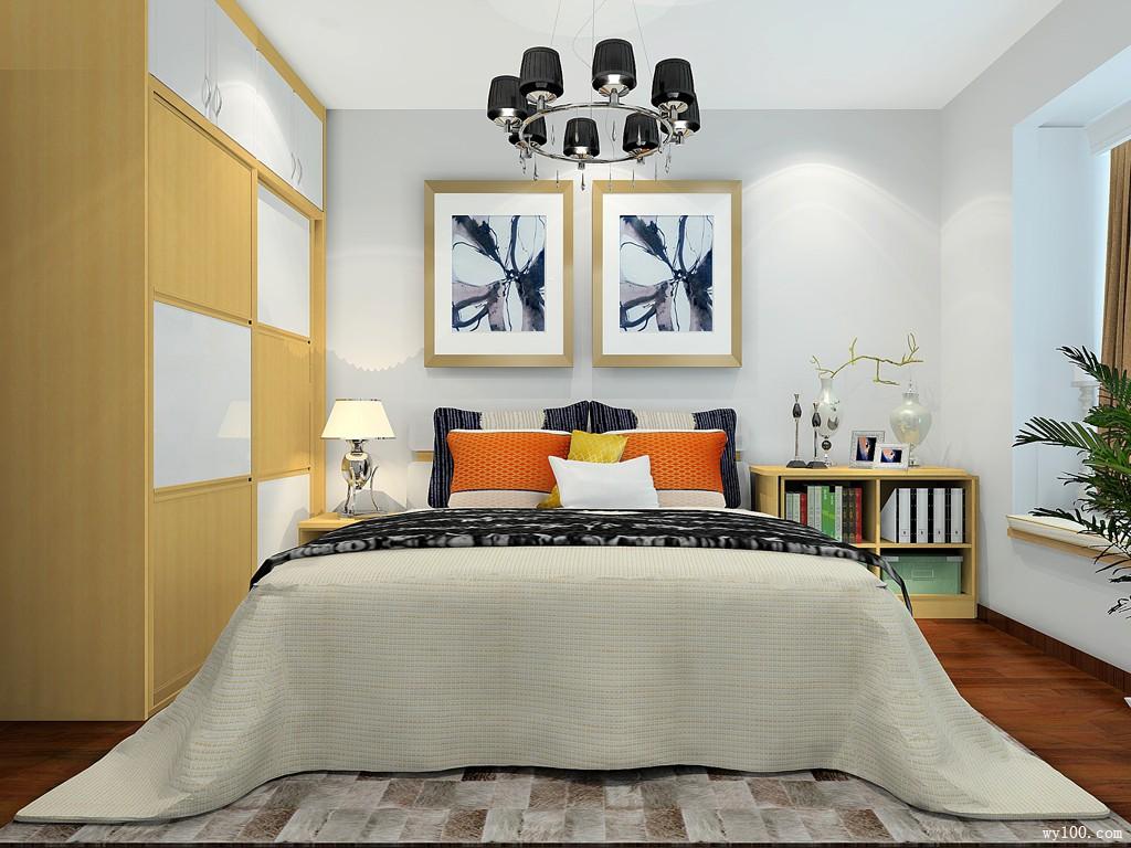 现代简约卧房效果图 11㎡储物休闲又温馨图片