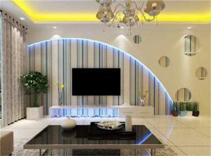 现代简约客厅电视墙装饰图
