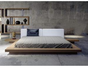 简约卧室地台床装修效果图