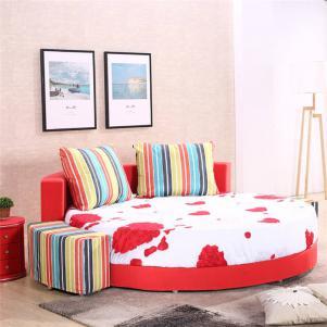 可拆洗圆形床卧室效果图