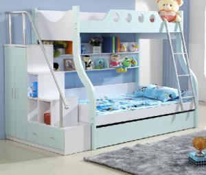 地中海卧室高低床装修效果图