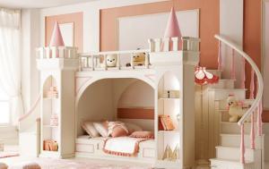 城堡卧室上下床装修效果图