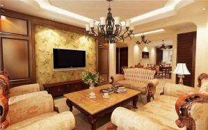 小美式风格客厅装修设计
