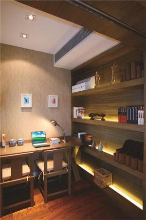 双人实木日式书房