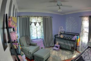紫色儿童房多功能房