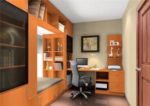 窗台榻榻米书柜设计