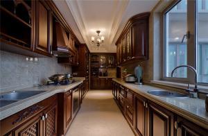 棕色木质橱柜颜色搭配