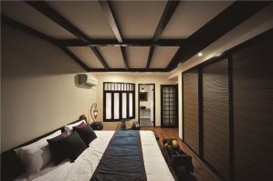 简约时尚卧室地台床装修效