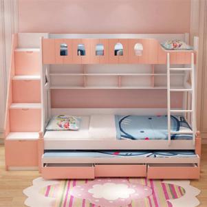 女孩卧室卧室高低床装修效果图