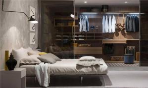 现代卧室衣帽间