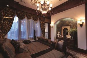 别墅主卧室的床