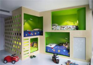 小户型新款儿童房双层床效