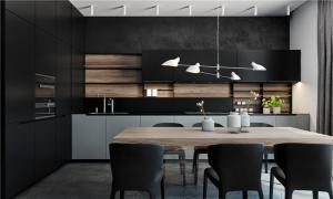 公寓开放式厨房橱柜