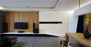 日式简约电视背景墙
