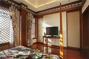 新中式风格卧室电视背景墙