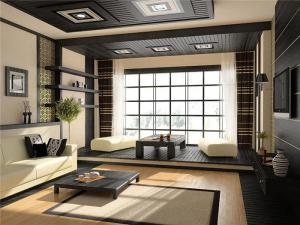 中式风格客厅阳台榻榻米