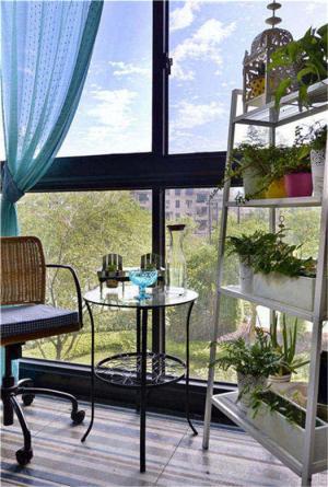 简易客厅阳台装修效果图