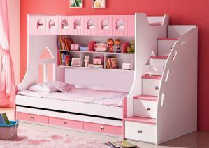 上下铺儿童房双层床效果图