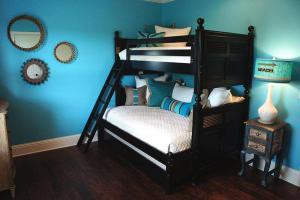 简欧家装风格小卧室高低床装修效果图