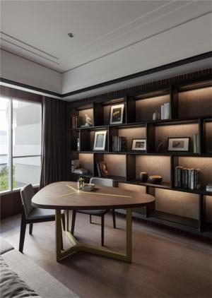 不规则欧式书桌书柜组合