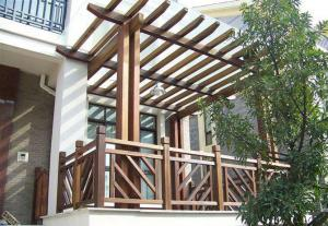 阳台防腐木效果图外观效果