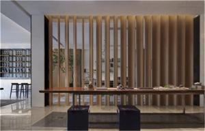 新中式唐代玄关背景墙