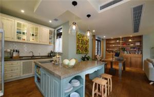 地中海风格开放式厨房橱柜