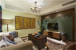 中式客厅背景墙欣赏图