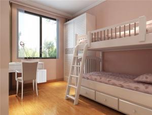 现代家装设计卧室高低床装修效果图