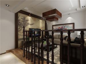 别墅中式客厅榻榻米